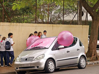 bubble guerilla marketing advertisement