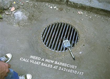 barbecue guerilla marketing advertisement