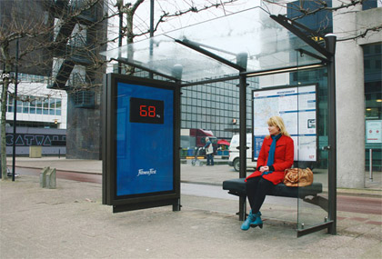 peso guerilla marketing advertisement