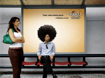 hair_guerrilla guerilla marketing advertisement