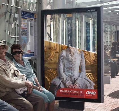 marie  guerilla marketing advertisement