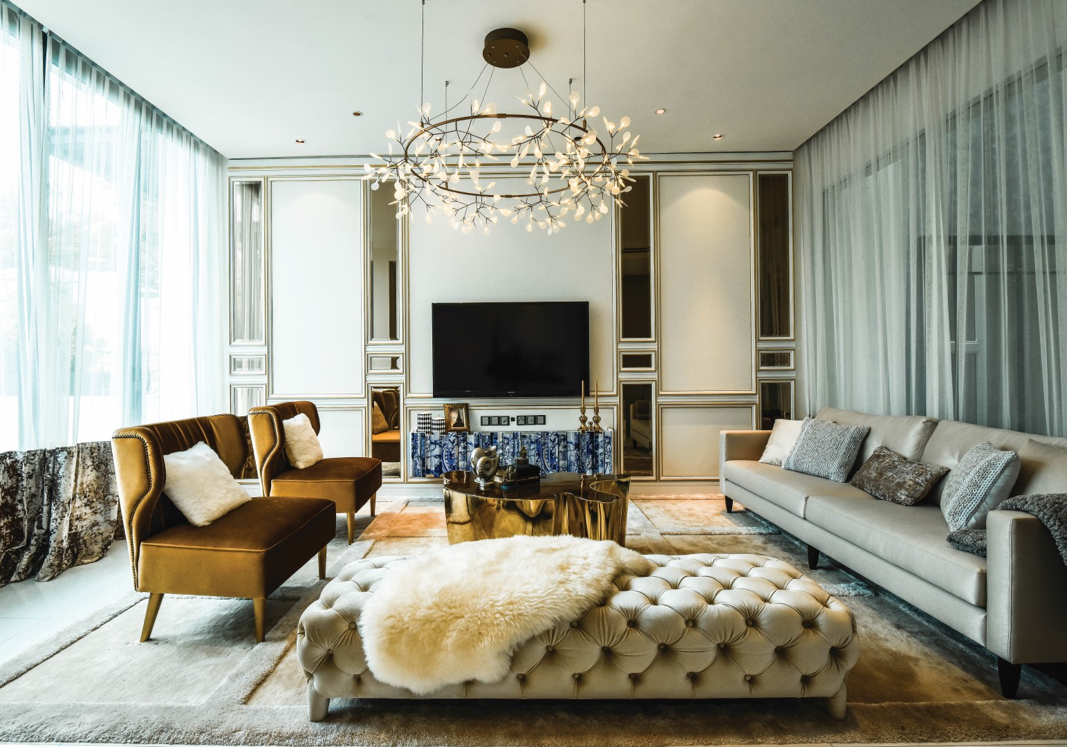 Lavish Flair 9 Ways To Create A Modern Opulent Living Room Malaysias No1 Interior Design