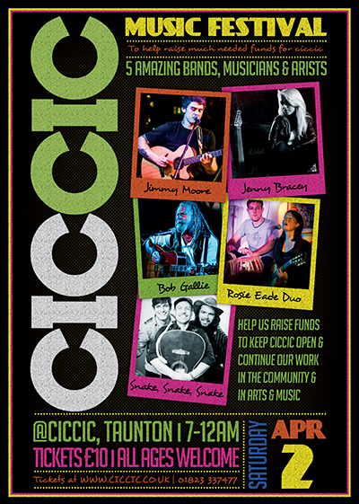 ciccic music festival poster taunton somerset