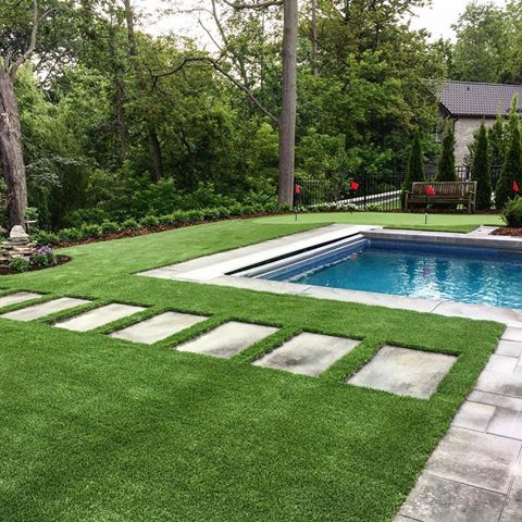 Rymar Artificial Grass backyard installation.