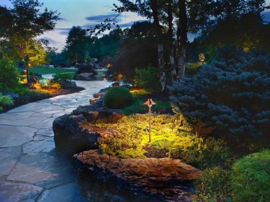 A professional lighting project, built by landscape lighting pros!