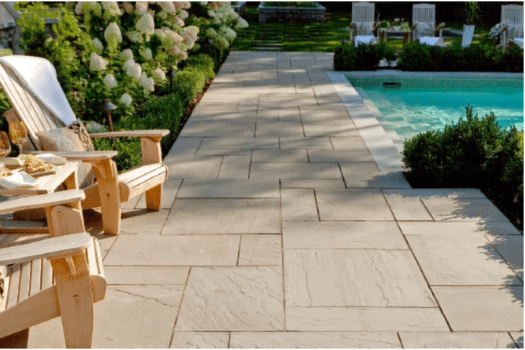 Aberdeen paver by Techo-Bloc, available @ Creative, as well as other pool deck and traditional landscape ideas.