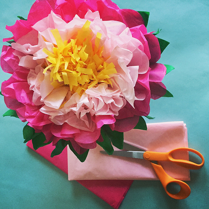 How to Make a Tissue Paper Flower  A Dazzling Tutorial Mahar Flowers11