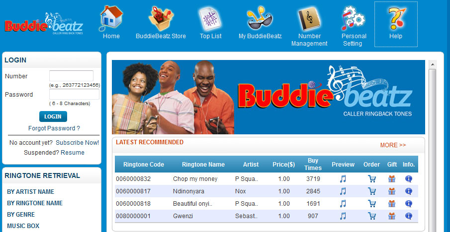 Econet  launches  Buddie Beatz