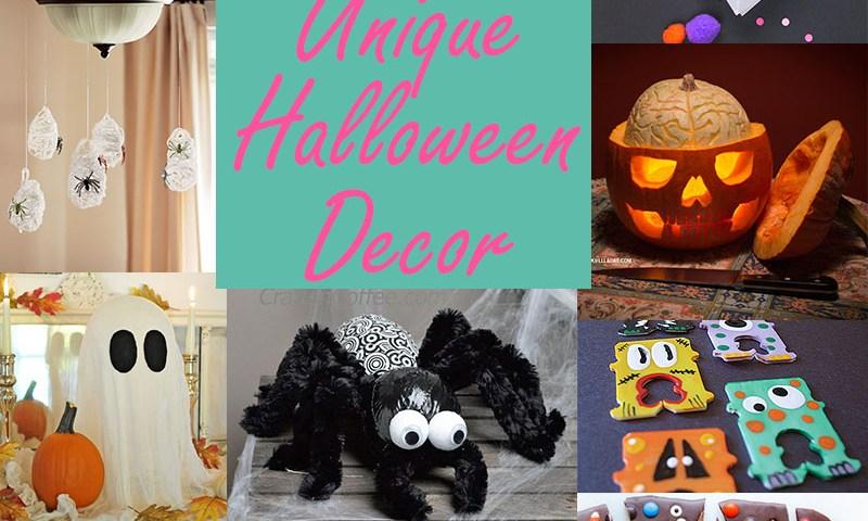 Unique Halloween Decor - 13 great DIY ideas!