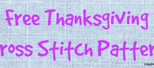 Free Thanksgiving Cross Stitch