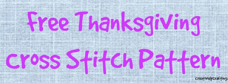 Free Thanksgiving Cross Stitch