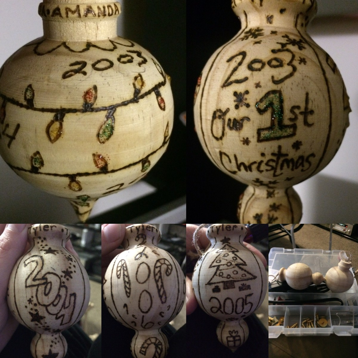 Christmas Pyrography Ornaments