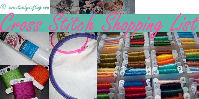 Cross Stitch Supplies list