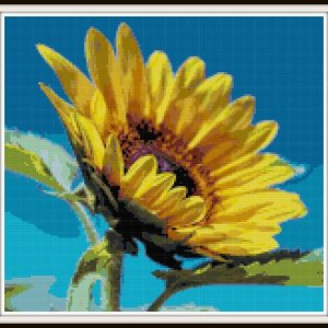 sunflower-cross-stitch-pattern-vsframed