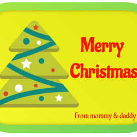 Creative Christmas Tags Stickers – Labely