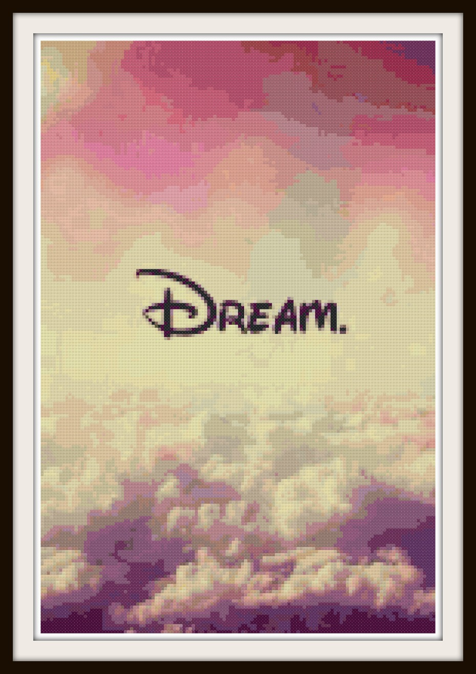 Disney Cross Stitch Pattern - Dream like Disney!