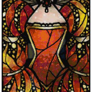 Red Queen Cross Stitch Pattern