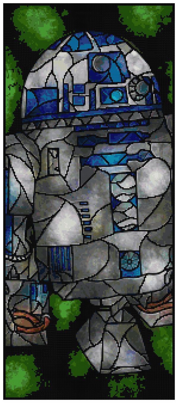 R2D2 Cross Stitch Pattern