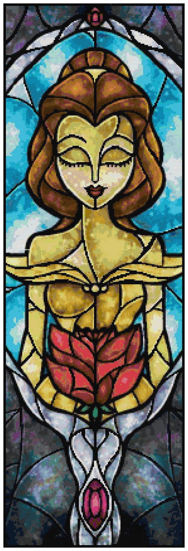 Belle Cross Stitch Pattern