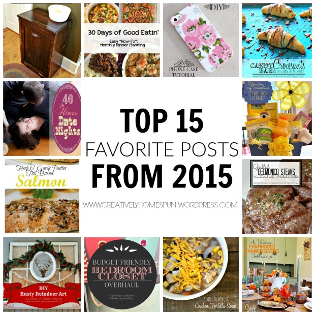 15 Favorite Blog Posts of 2015!! #blog #newyear #top15 #diy #recipe #holiday #tips