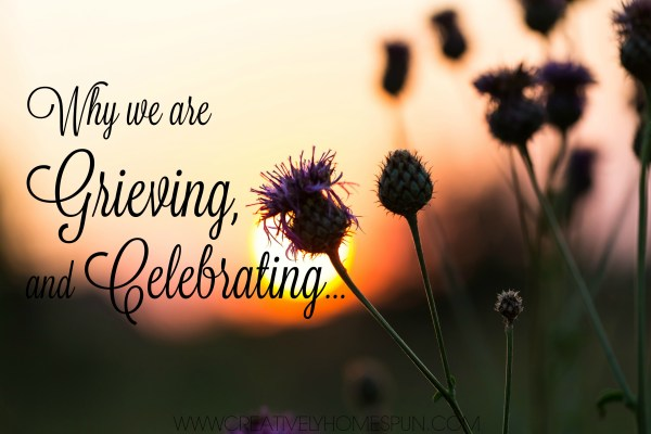 Why we are grieving and celebrating.... #babyannouncement #creativelyhomespun