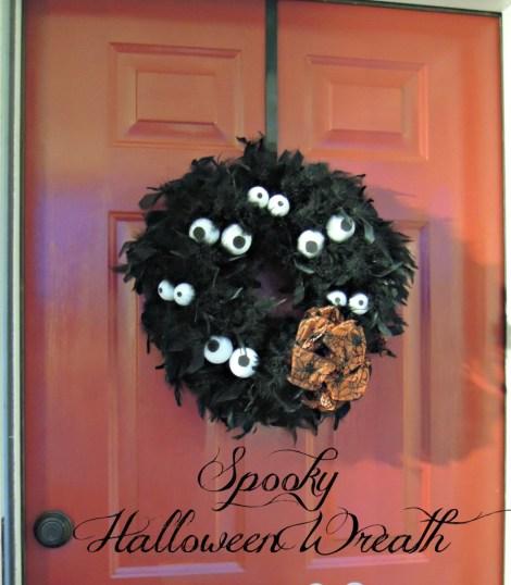 Halloween wreath idea