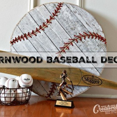 Barnwood Baseball Wall Decor