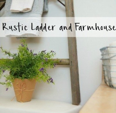 Repurposed Rustic Ladders and DIY Farmhouse Storage
