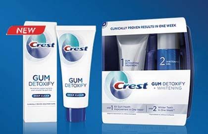 Crest Debuts Gum Detoxify Toothpaste