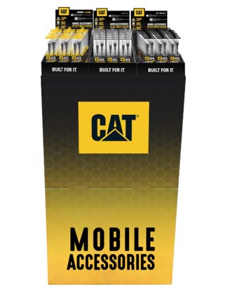 New Line Of Cat Rugged Cellular Accessories On Display