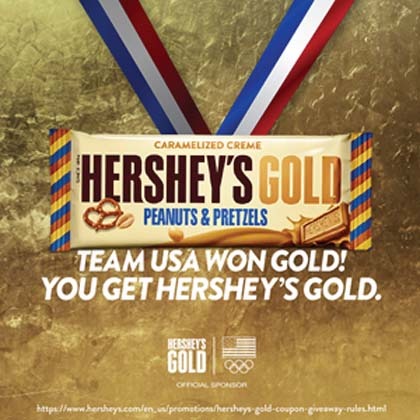 Hershey's Brand Conducts 'Taste Of Gold' Promotion