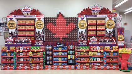 Mondelez Promotes Olympic Large Grocery Store Display