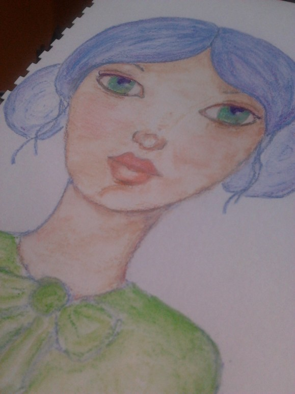 Blue lady by Cristina Parus @ http://creativemag.ro