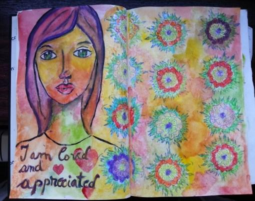 stampile 3D cu flori - art journal by Cristina Parus @ creativemag.ro