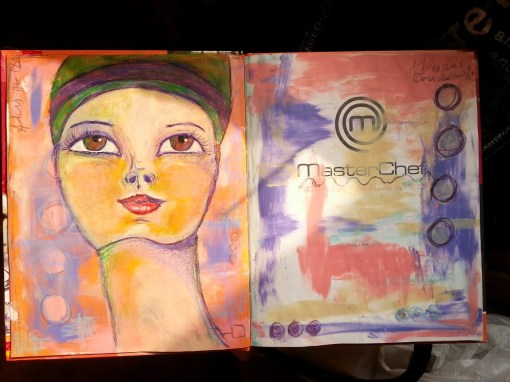 Art journal page by Cristina Parus