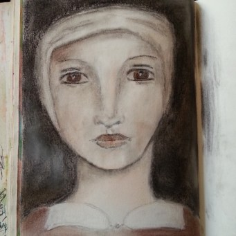 Portrait in soft pastels by Cristina Parus @ creativemag.ro