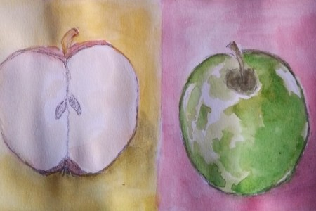 Watercolor apples by Cristina Parus @ creativemag.ro