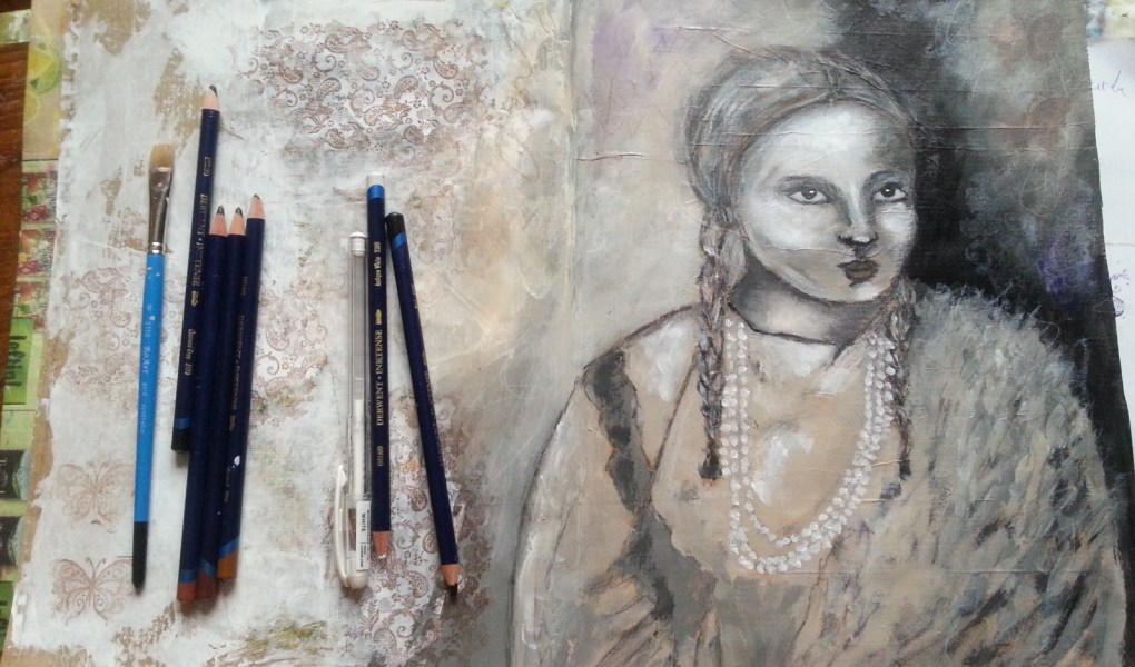 Cheyenne woman painting by Cristina Parus @ creativemag.ro