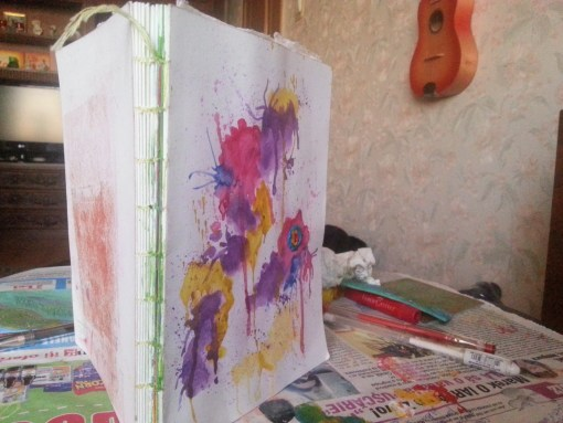 watercolor art jurnal stitch by Cristina Parus @ creativemag.ro