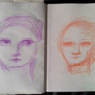 Abstract February faces by Cristina Parus @ creativemag.ro