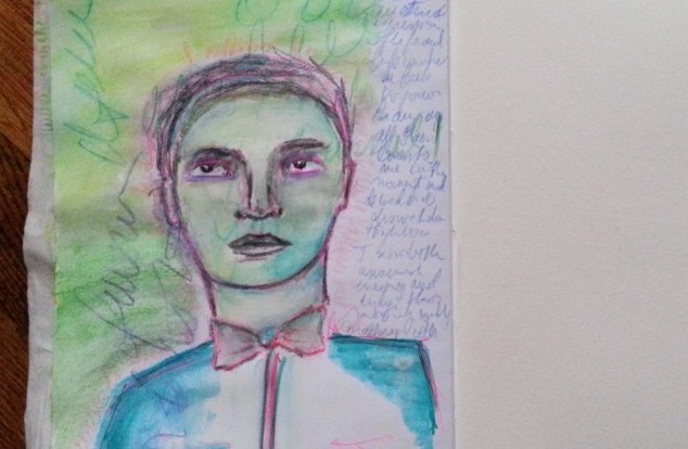male drawing by Cristina Parus @ creativemag.rio