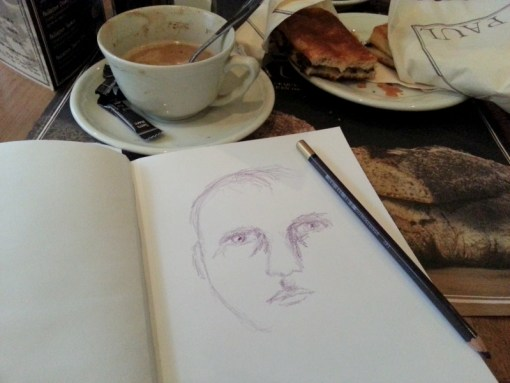 Sketching over a cup of coffee by Cristina Parus @ creativemag.ro