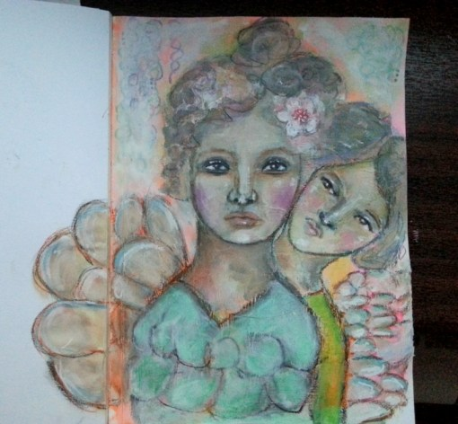 Curious Mind Art Journal Page by Cristina Parus @ creativemag.ro