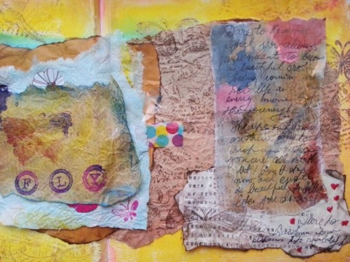 FLY - art journal page by Cristina Parus @ creativemag.ro