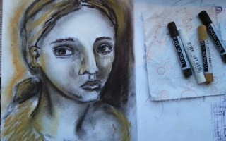 quick soft pastel sketch by Cristina Parus @ creativemag.ro