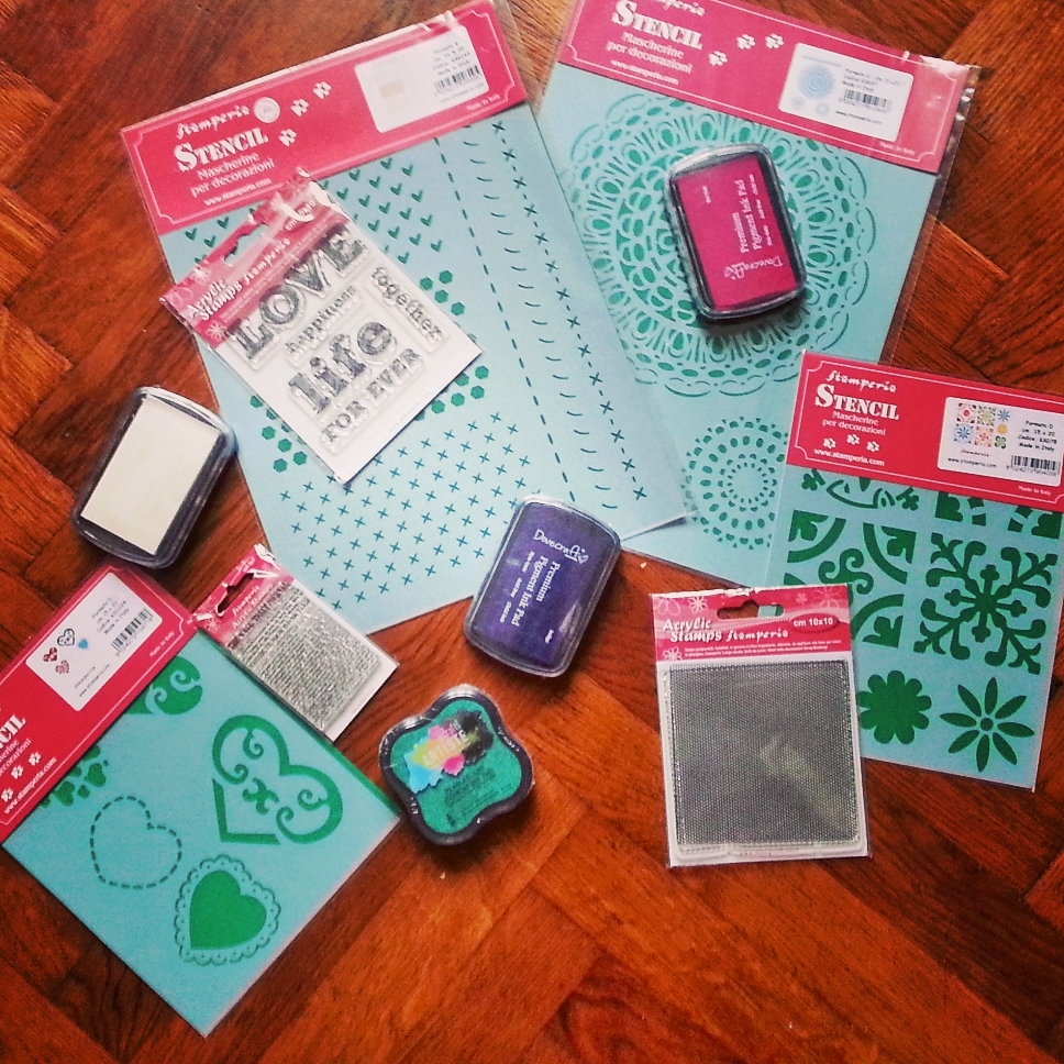 stamps ans stencils by Cristina Parus @ CreativeMag.ro