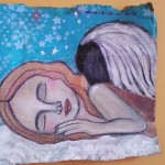 Guardian Angel Acrylic Painting Pam Carriker Inspired