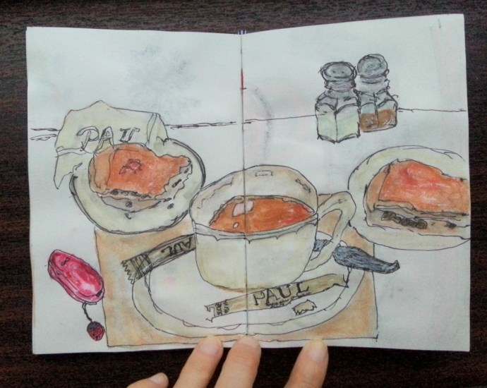 One sketch a day - coffee break by Cristina Parus @ creativemag.ro