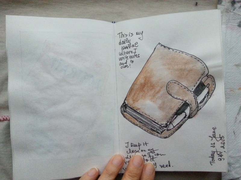 One sketch a day - daily planner by Cristina Parus @ creativemag.ro