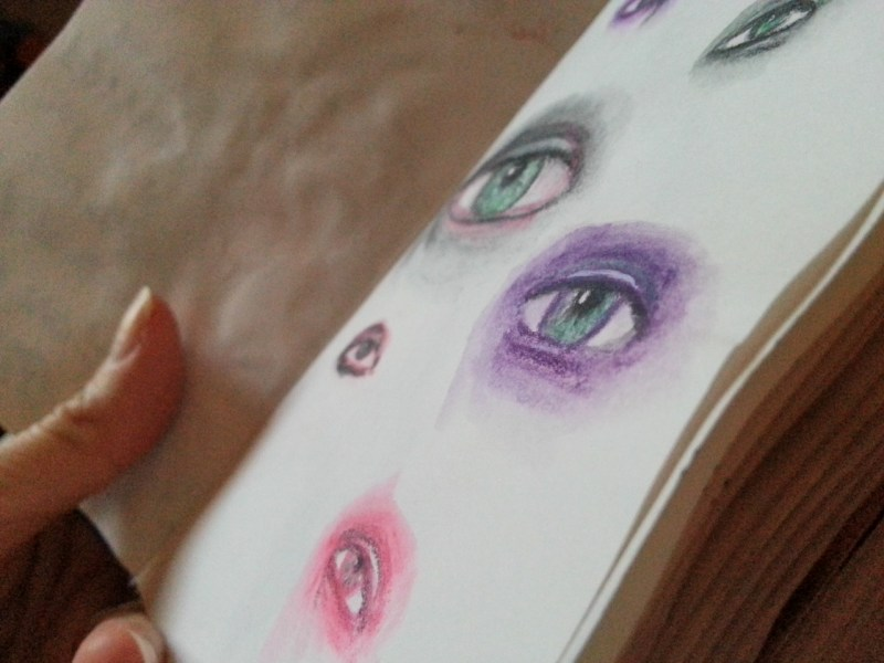 Sketching eyes - by Cristina Parus @ creativemag.ro